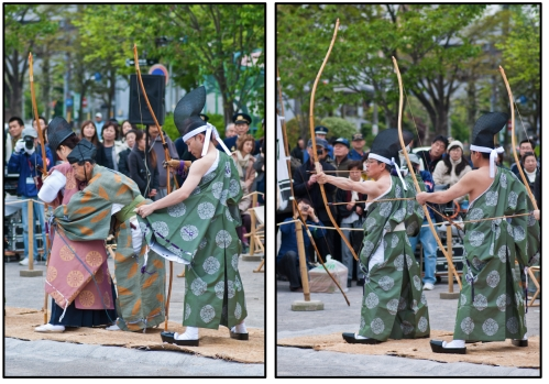 Japanese archers in Asakusa