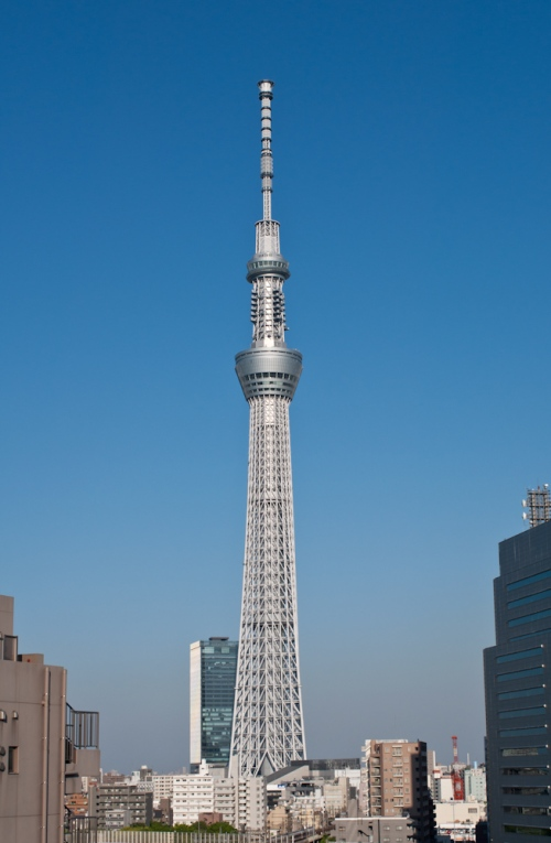 Tokyo Skytree - seen from the roof of the Asakusa Matsuya department store